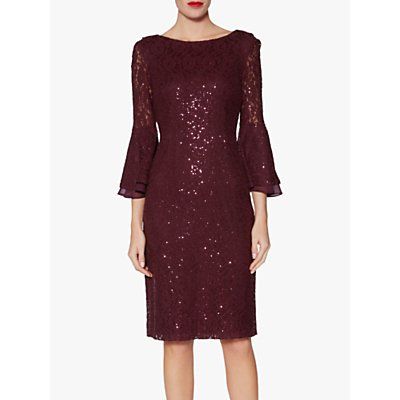 Gina Bacconi Amina Sequin Dress, Wine