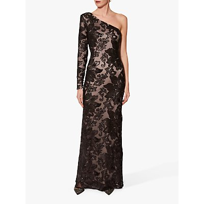Gina Bacconi Contessa Sequin One Shoulder Maxi Dress
