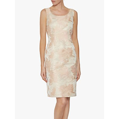 Gina Bacconi Lanisa Jacquard Dress, Peach