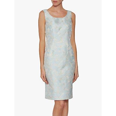 Gina Bacconi Tori Floral Jacquard Dress, Blue
