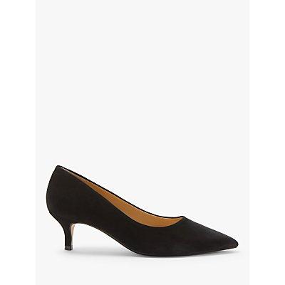 John Lewis & Partners Alessia Kitten Heel Court Shoes