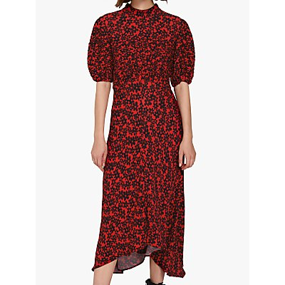 Ghost Jenna Floral Dress, Red Floral