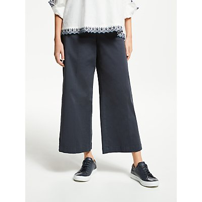 Weekend MaxMara Cotton Wide Leg Trousers, Ultramarine
