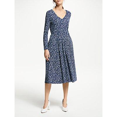 Weekend MaxMara Floral Print Jersey Midi Dress, Ultramarine