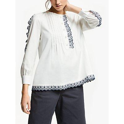 Weekend MaxMara Cotton Embroidered Blouse, Optical White