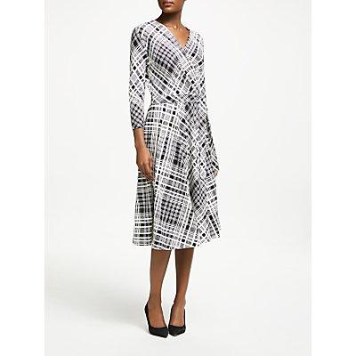 Weekend MaxMara Check Jersey Wrap Dress, White/Black