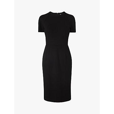 L.K.Bennett Liya Crew Neck Midi Dress, Black