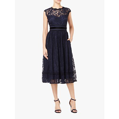 Adrianna Papell Short Lace Dress, Midnight
