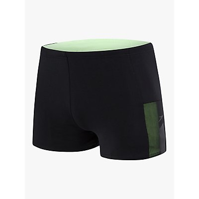 Speedo Mesh Panel Aquashort Swim Shorts, Black