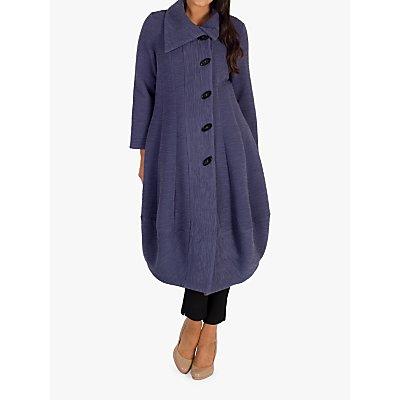 Chesca Wrap Collar Button Coat, Hyacinth