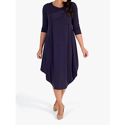 Chesca Tuck Detail Dress, Grape