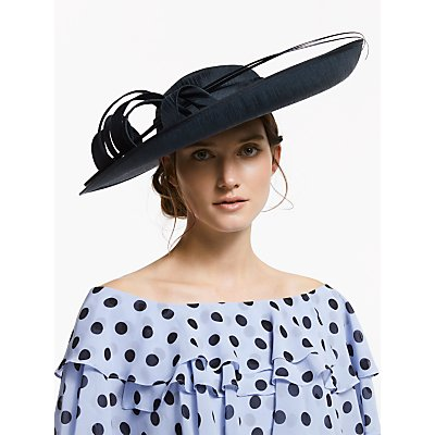 John Lewis & Partners Rebecca Large Side Upturn Swirl Detail Occasion Hat