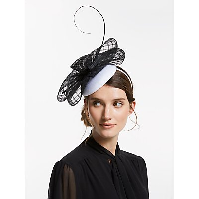 John Lewis & Partners Pippa Pillbox Bow Fascinator
