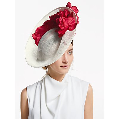 John Lewis & Partners Zita Flower Detail Side Up Disc Occasion Hat