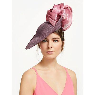 Bundle MacLaren Millinery Amanda Statement Loop Slanted Disc Occasion Hat, Lilac/Pink