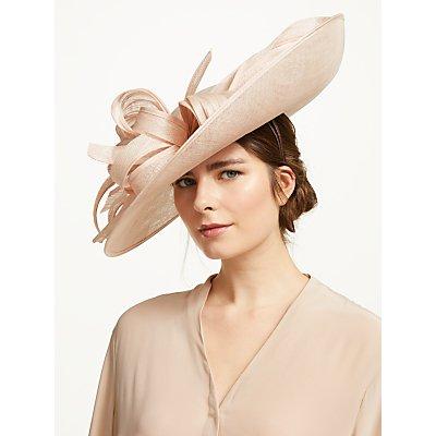 Vivien Millinery Yasmin Loop Side Disc Occasion Hat, Blush