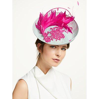 Vivien Millinery Sophie Floral Lace Disc Occasion Hat