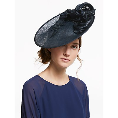 Vixen Millinery Celine Floral Lace and Loop Disc Occasion Hat