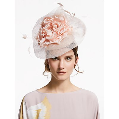 Snoxells Heidi Flower Veil Fascinator, Blush