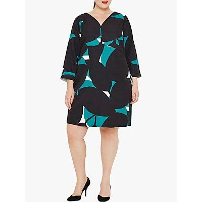 Studio 8 Vanessa Geometric Print Dress, Green Multi