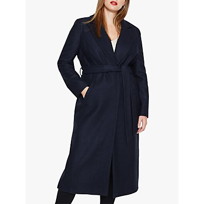 Studio 8 Fergie Faux Fur Collar Coat, Navy