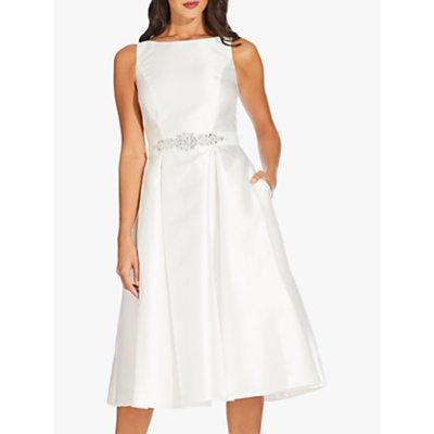 Adrianna Papell Mikado Party Dress, Ivory
