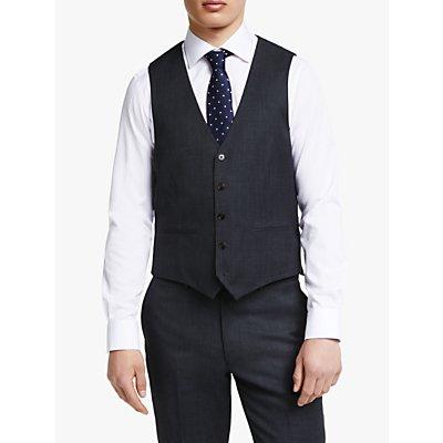 John Lewis & Partners Regular Fit Birdseye Waistcoat, Charcoal