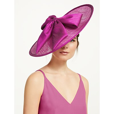 Whiteley Tyra Bow Detail Disc Occasion Hat, Cyclamen