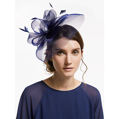 John Lewis & Partners Eva Crin Fascinator, Navy