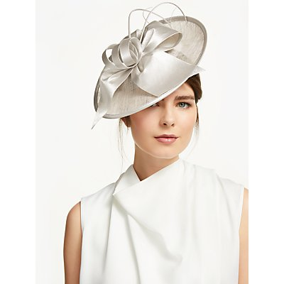 John Lewis & Partners Mila Bow and Loop Disc Occasion Hat, Almond