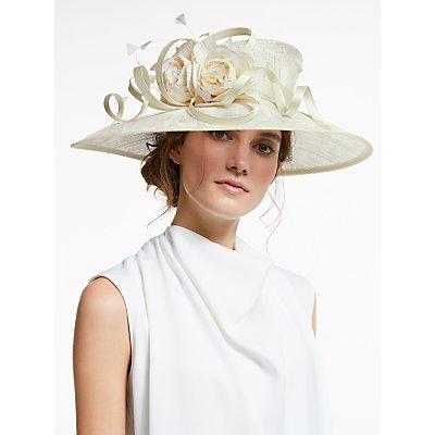 John Lewis & Partners Esme Flower and Loop Occasion Hat, Ivory