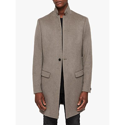 AllSaints Bodell Coat  Oatmeal Brown - 5057055334746