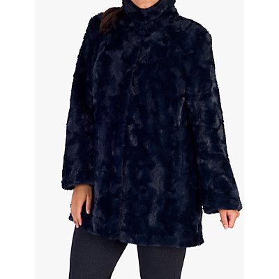 Chesca Faux Fur Swing Coat