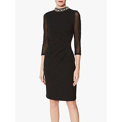 Gina Bacconi Shauna Crepe Dress, Black