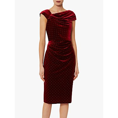 Gina Bacconi Solange Gold Dress, Wine/Gold