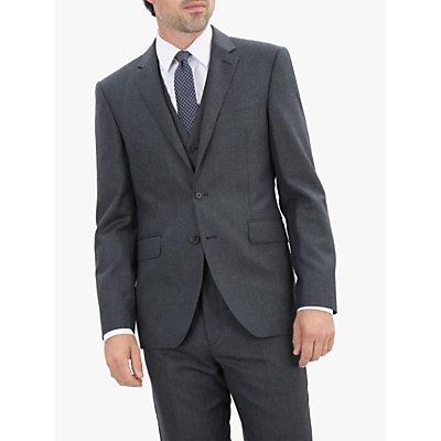 Jaeger Flannel Regular Fit Jacket, Charcoal