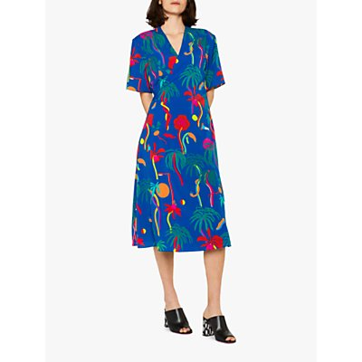 PS Paul Smith Urban Jungle Wrap Dress, Blue