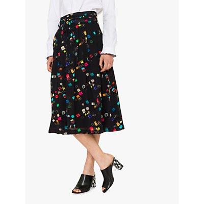 PS Paul Smith Ring Box Print Skirt, Black/Multi