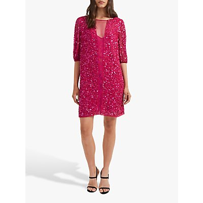 French Connection Diana Sequin Dress, Pink Opulence