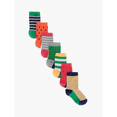 John Lewis & Partners Boys' Days of The Week Socks, Pack of 7, Multi