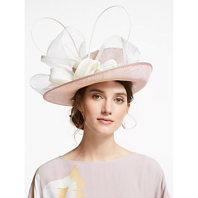 John Lewis & Partners Harriet Loop Occasion Hat, Blush/Ecru