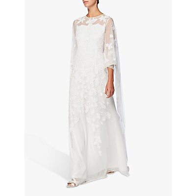 Raishma Bridal Cape Gown, White