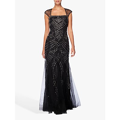 Raishma Beaded Gown, Black