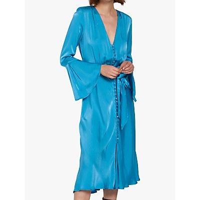 Ghost Annabelle Satin Dress, Twilight Blue