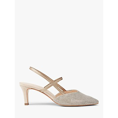 Peter Kaiser Mitty Slingback Court Shoes, Sand Shimmer