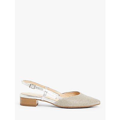 Peter Kaiser Calida Block Heel Slingback Court Shoes, Sand Shimmer