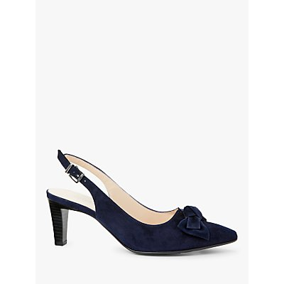 Peter Kaiser Malijana Bow Cone Heel Slingback Court Shoes