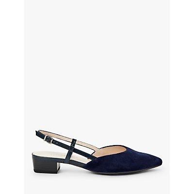 Peter Kaiser Claudia Block Heel Slingback Court Shoes, Notte Suede