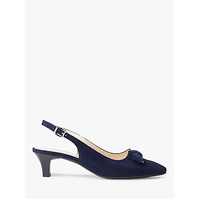 Peter Kaiser Sona Bow Cone Heel Slingback Court Shoes, Navy