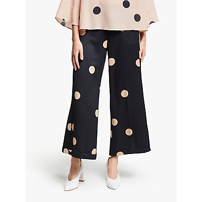 Marella Autore Polka Dot Trousers, Black